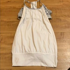 White gray LULULEMON tank top sports bra size 6